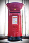 Post office red wedding post box hire