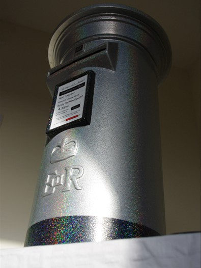 Silver Holographic Sparkle Wedding Post Box