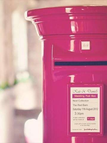 Hot Pink Royal Mail Wedding Post Box