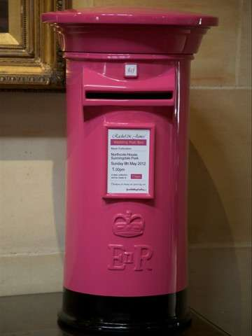 Hot Pink Wedding Post Box Royal Mail