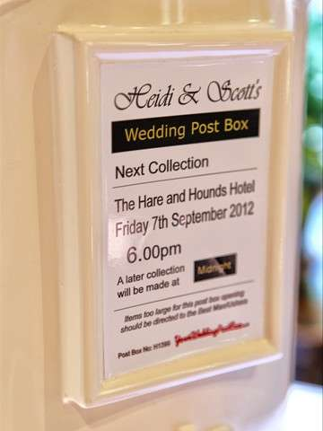 Ivory Royal Mail Wedding Post Box