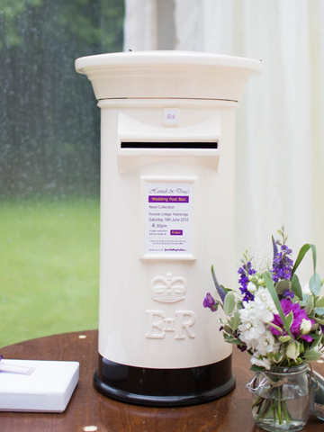 Ivory and Black Wedding Post Box Hire