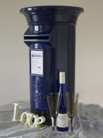Navy Blue and Black Wedding Post Box Hire