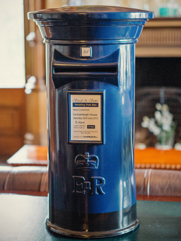 Navy Blue Wedding Post Box Royal Mail