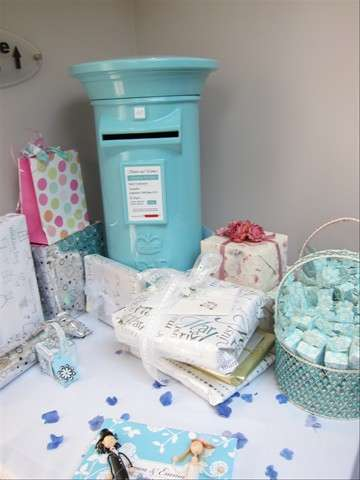 Pale Blue Wedding Post Box Royal Mail
