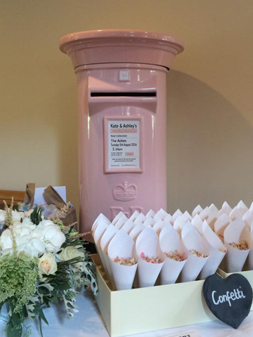 Pale Pink Royal Mail Wedding Post Box