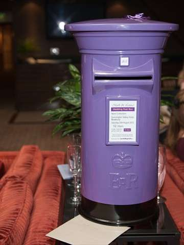 Purple Royal Mail Wedding Post Box
