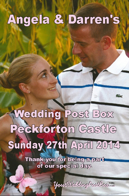 Personalised Wedding Postbox Hire Info Panel