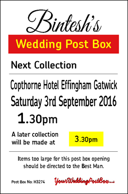 Personalised Wedding Postbox Hire