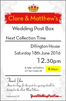 Wedding Post Box Hire Personalisation Panel
