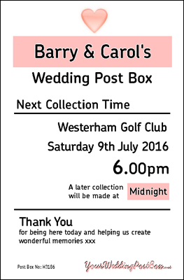 Personalised Wedding Post Box Hire