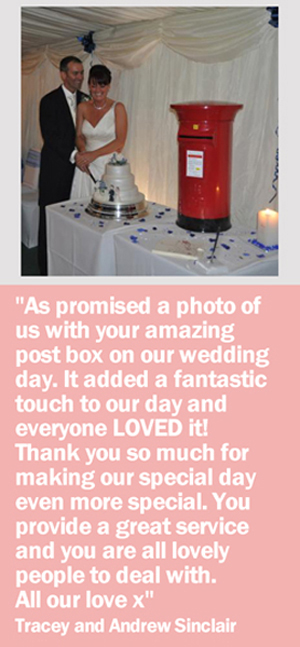 Wedding Postbox Hire Testimonials